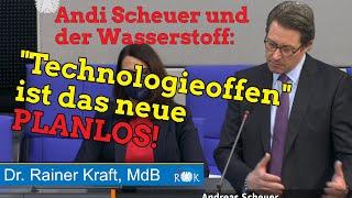 Verkehrsminister Scheuer: Kein Plan von Wasserstoff!
