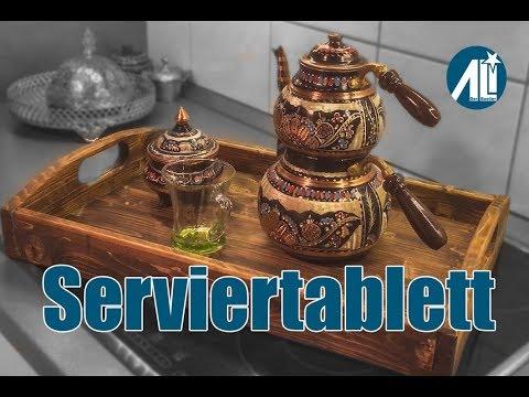 ✅ Serviertablett in kurzer Zeit ⎮ Kostet fast gar nichts ⎮ Rustikaler Look