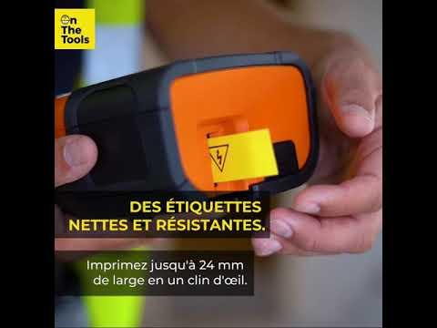 Etiqueteuse connectable 24mm avec mallette, adaptateur secteur et 2 rubans TZe