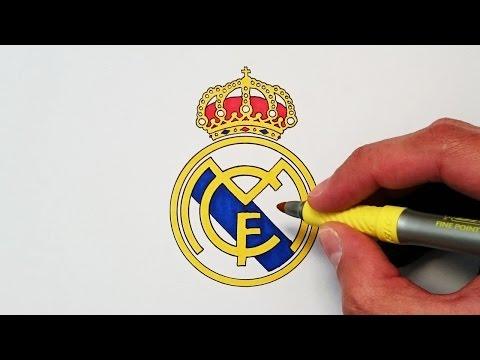 Cómo dibujar el escudo del Real Madrid paso a paso