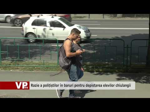 Razie a polițiștilor în baruri pentru depistarea elevilor chiulangii