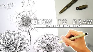 How To Draw Flowers 🌼ADVANCED🌼 Bullet Journal Flowers
