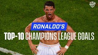 Cristiano Ronaldo Top-10 Champions League Goals | Man United Madrid Juve | CBS Golazo