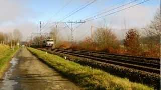 preview picture of video 'Deux Intercités Toulouse Bayonne à proximité d'Ossun.'