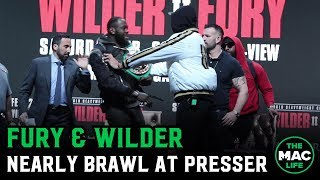 Tyson Fury and Deontay Wilder nearly brawl at pre-fight press conference
