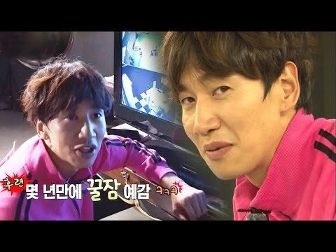 《FUNNY》 Running Man 런닝맨 미로에 쩔쩔매는 런닝맨들 보며 간식 먹는 광수 '흡족' EP402 20151025 (видео)