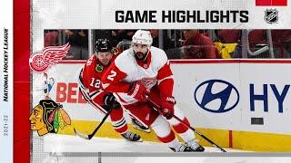 Red Wings @ Blackhawks 10/24/21   NHL Highlights