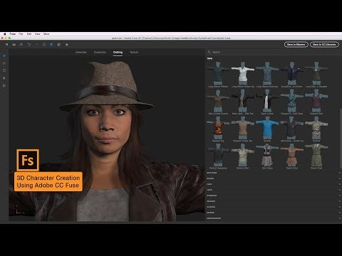 3D Character Creation Using Adobe CC Fuse