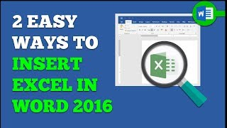 How To Insert Excel Into Word   2 Easy Ways To Link Or Attach An Excel Worksheet To A Word 2016 Doc