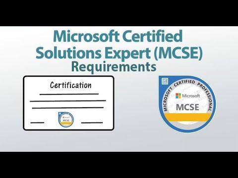 MCSE Training Requirements - YouTube