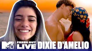 "Dixie D'Amelio on ""Be Happy"" Music Video & Awkward Noah Beck Kiss | #MTVFreshOut"