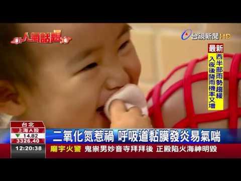 交通空汙誘發兒童氣喘  台灣第4嚴重