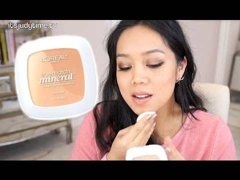 NEW 16 Hr Loreal True Match Mineral pressed powder first impression review – itsjudytime