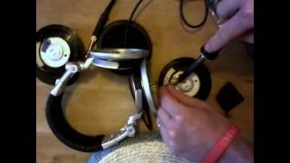 Dismantling The Sony MDR-V700DJ DJ Headphones by CustomCans.co.uk