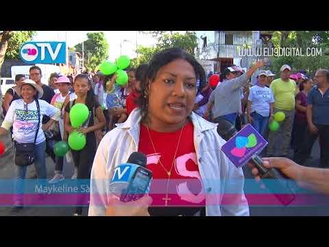 Nicaragüenses participan en colorida caminata #AMORANICARAGUA