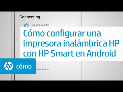 Aprenda cómo configurar una impresora inalámbrica HP con HP Smart en Android.