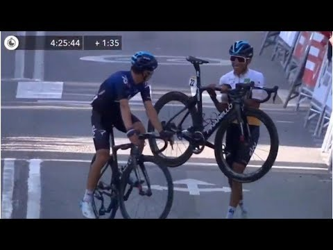 Egan Bernal termino a pie la quinta etapa de la Vuelta a Cataluña