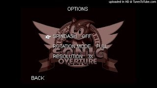 Sonic Overture OST - Options Menu