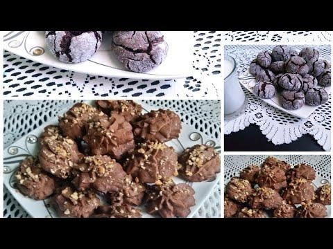 2 рецепта шоколадного печенья  Печенье трещинки  Печенье Венское