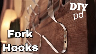 TRASH TO TREASURE PROJECT / Kitchen Cutlery Rack/How To Make Fork Hooks | DIY Decor Ideas