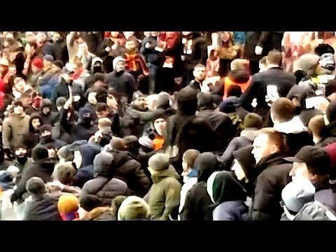 CSKA - ROMA fans clash 07.11.18 видео