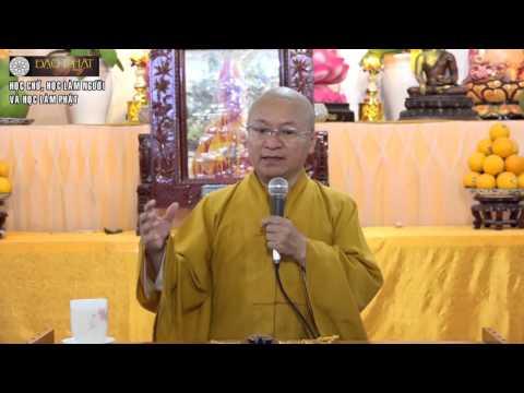 Học chữ, học làm người và học làm Phật