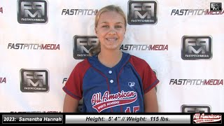 2023 Samantha Hannah Athletic Outfielder Softball Skills Video - All American Sports Academy