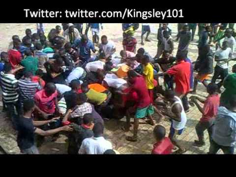 Nigerian University students struggling.