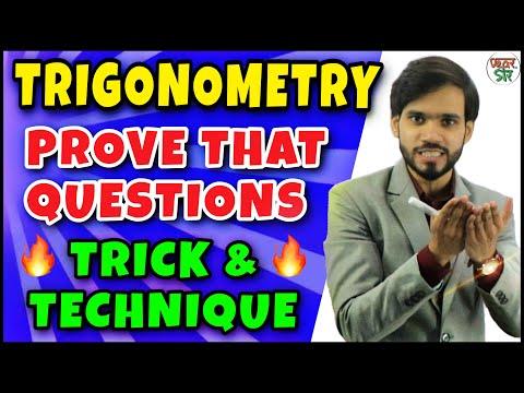 Trigonometry | Trigonometry Tricks | Trigonometry Prove that Questions Tricks | Formula/Class 10/11