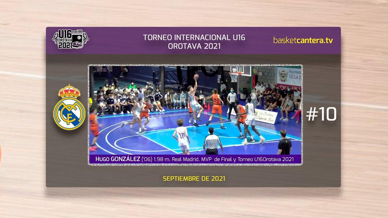 HUGO GONZÁLEZ ('06) 1.98 m. Real Madrid. MVP final y Torneo U16M La Orotava 2021 #BasketCantera.TV