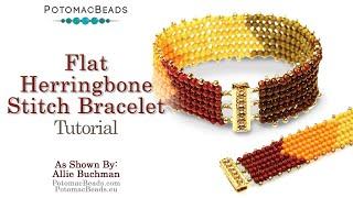 Flat Herringbone Stitch- DIY Jewelry Making By PotomacBeads