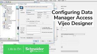 Configuring Data Manager Access in Vijeo Designer