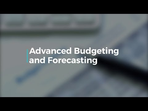 Advanced Budgeting and Forecasting - YouTube