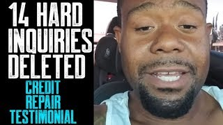 14 HARD INQUIRIES DELETED || 609 CREDIT REPAIR REVIEW || HOW TO REMOVE HARD INQUIRIES