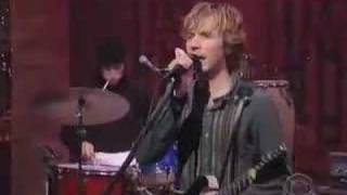 Beck Plays Black Tambourine On David Letterman