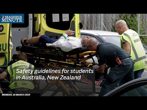Safety guidelines for students in Australia, New Zealand
