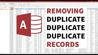 Removing Duplicate Records - Microsoft Access [ontrackTV video]