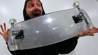 BULLET PROOF GLASS BOARD WITH CLEAR ACRYLIC WHEELS | YOU MAKE IT WE SKATE IT EP 84