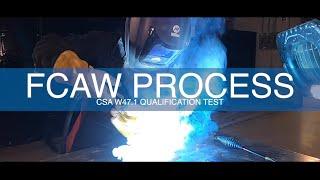 Prepare for a CSA W47.1 Qualification Test (FCAW Process)