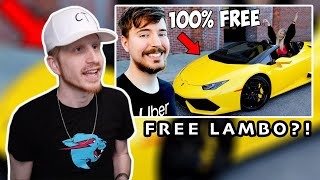 Joey Nato Reacts to I Uber'd People And Let Them Keep The Car | Mr Beast