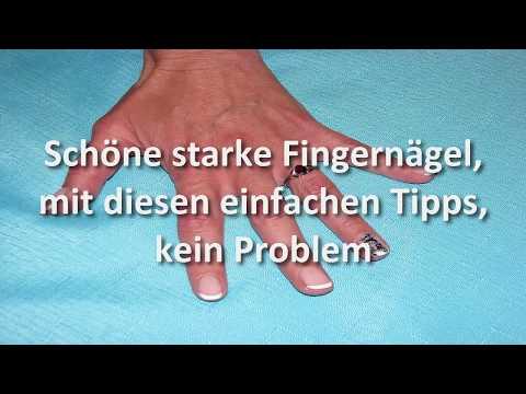Die Creme für die Behandlung der Nägel der Beine