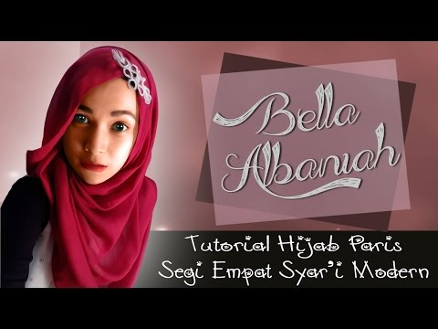 Video Tutorial Hijab Paris Segi Empat Syar'i Terbaru 2016