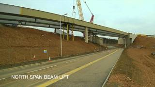 Ferrytoll Viaduct Beam Lifts February/March 2015