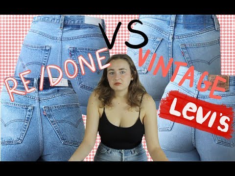 Re/Done Jeans VS True Vintage Levi's: Worth the price?? | A Review and Comparison
