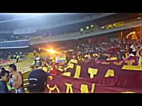 """Revolución Vinotinto Sur en Bogotá (Tolima 0 - Millonarios 3)"" Barra: Revolución Vinotinto Sur • Club: Tolima"
