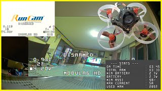 1S HD recording FPV drone, Mobula6 HD flight time (Original setting, Indoor flight, Virgin light)