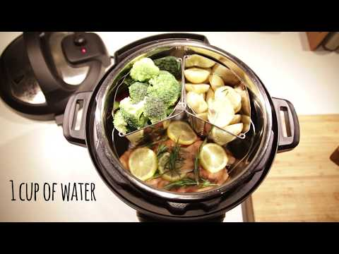 Instant Pot easy salmon and steamed vegetables