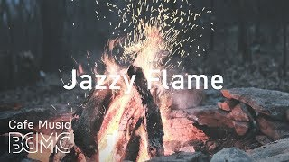 🍁Autumn Jazz Music - Chill Out Coffee Music - Slow Acoustic Jazz Music with Fireplace Sounds