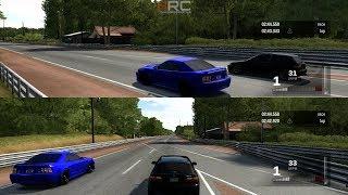 Forza 3:Split Screen Drags w/ Turbo LSV EG Hatch, Kenne Bell Cobra, GTR, Evo 9 & Turbo EM1