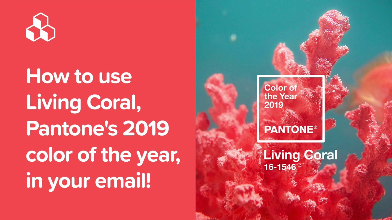 How to use Living Coral, Pantone's 2019 color of the year, in your email!